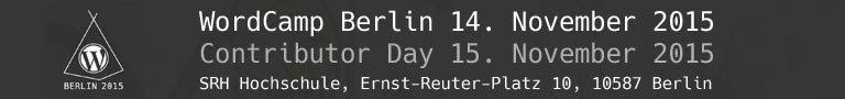 Banner WordCamp Berlin 2015