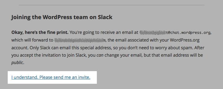 WordPress & Slack: Einladung erhalten