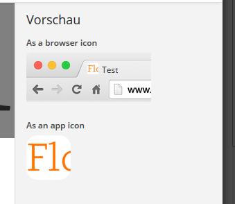 Beim Zuschneiden eines Site-Icons im Customizer bekommt ihr rechts eine Vorschau angezeigt.