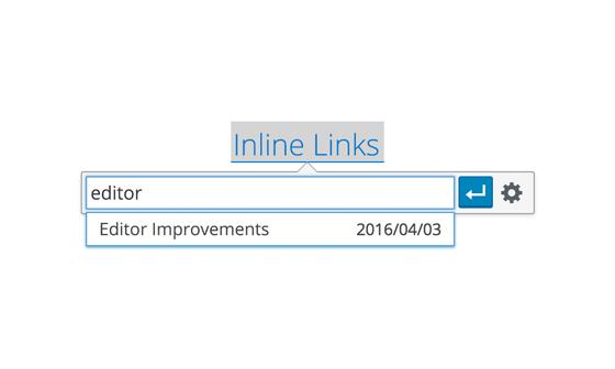 Der neue Inline-Link-Dialog. (Screenshot: WordPress-About-Seite)
