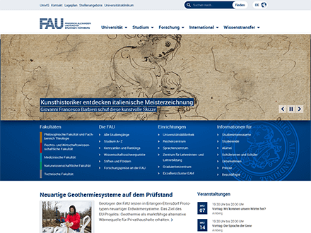Startseite FAU