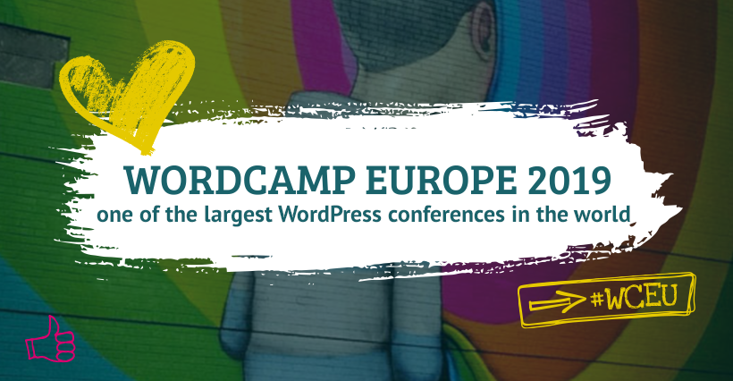 Grafikbanner für das WordCamp Europe 2019 in Berlin